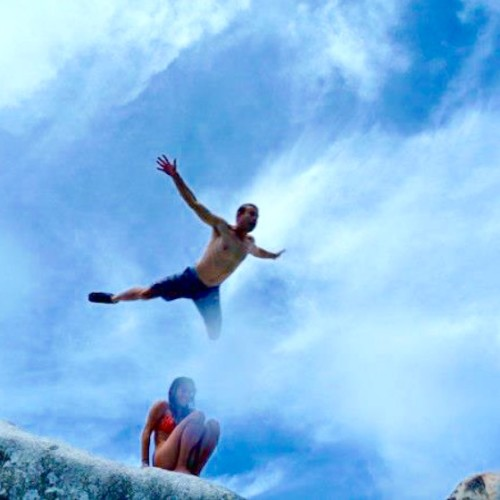 Rock Jumping at the Baths